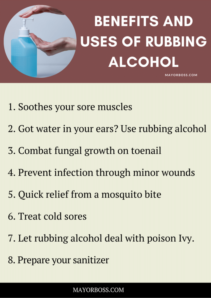 Health Benefits and Uses of Rubbing Alcohol