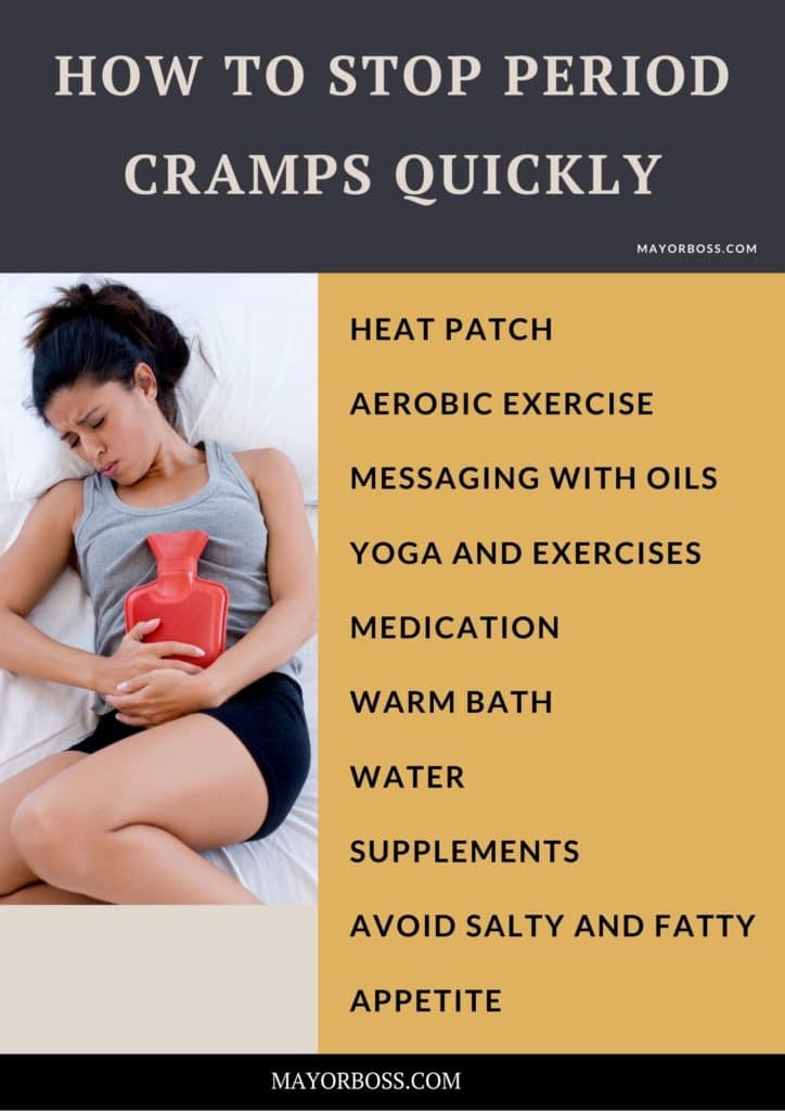 How To Stop Period Cramps Quickly