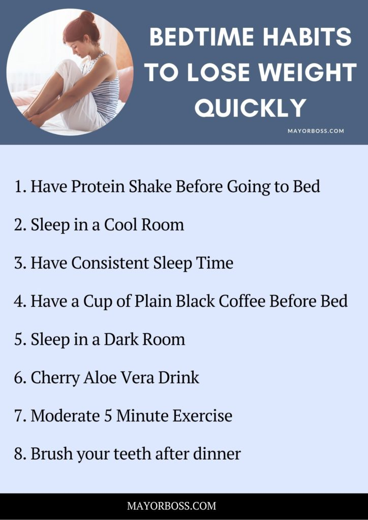 Learn Bedtime Habits To Lose Weight