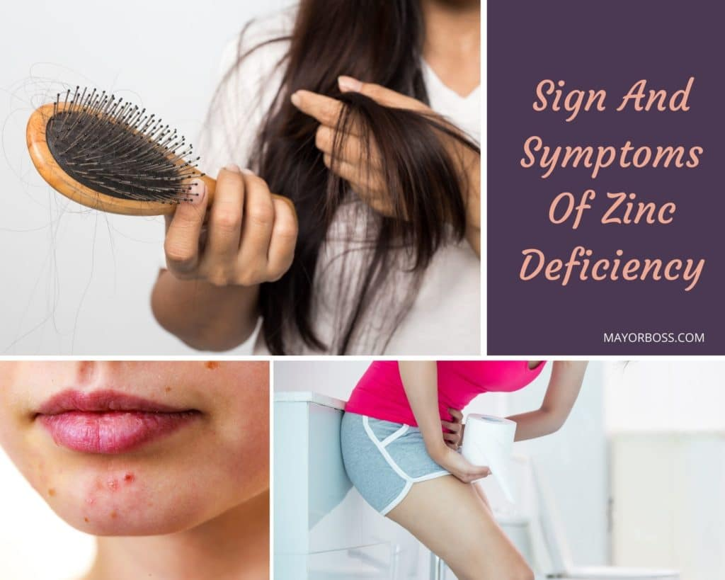 Sign And Symptoms Of Zinc Deficiency