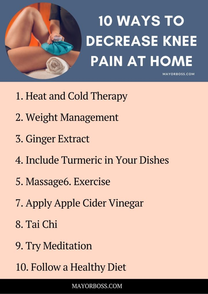 Ways To Decrease Knee Pain at Home