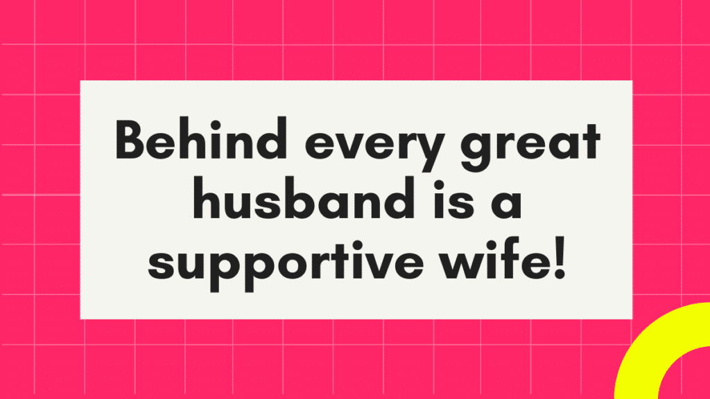 Here is what a husband needs from his wife